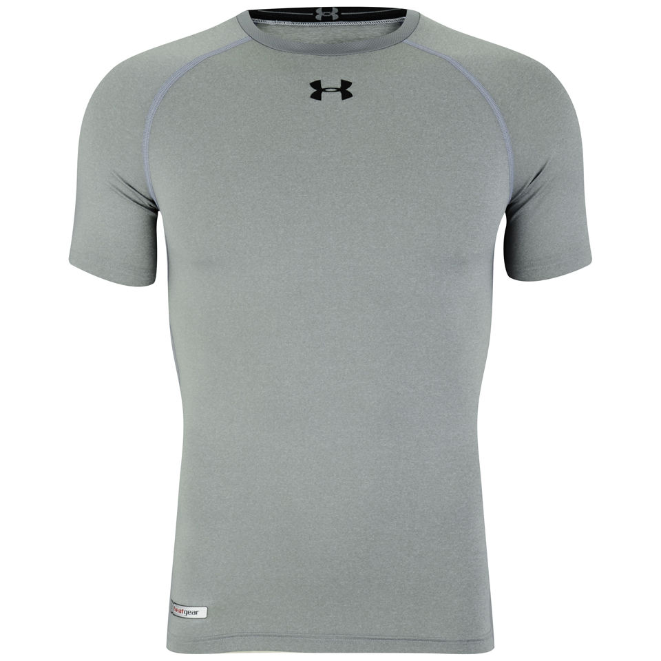 21d2d2731 Under Armour Men's Heatgear Sonic Compression T-Shirt - True Grey/Heather/ Black. Description