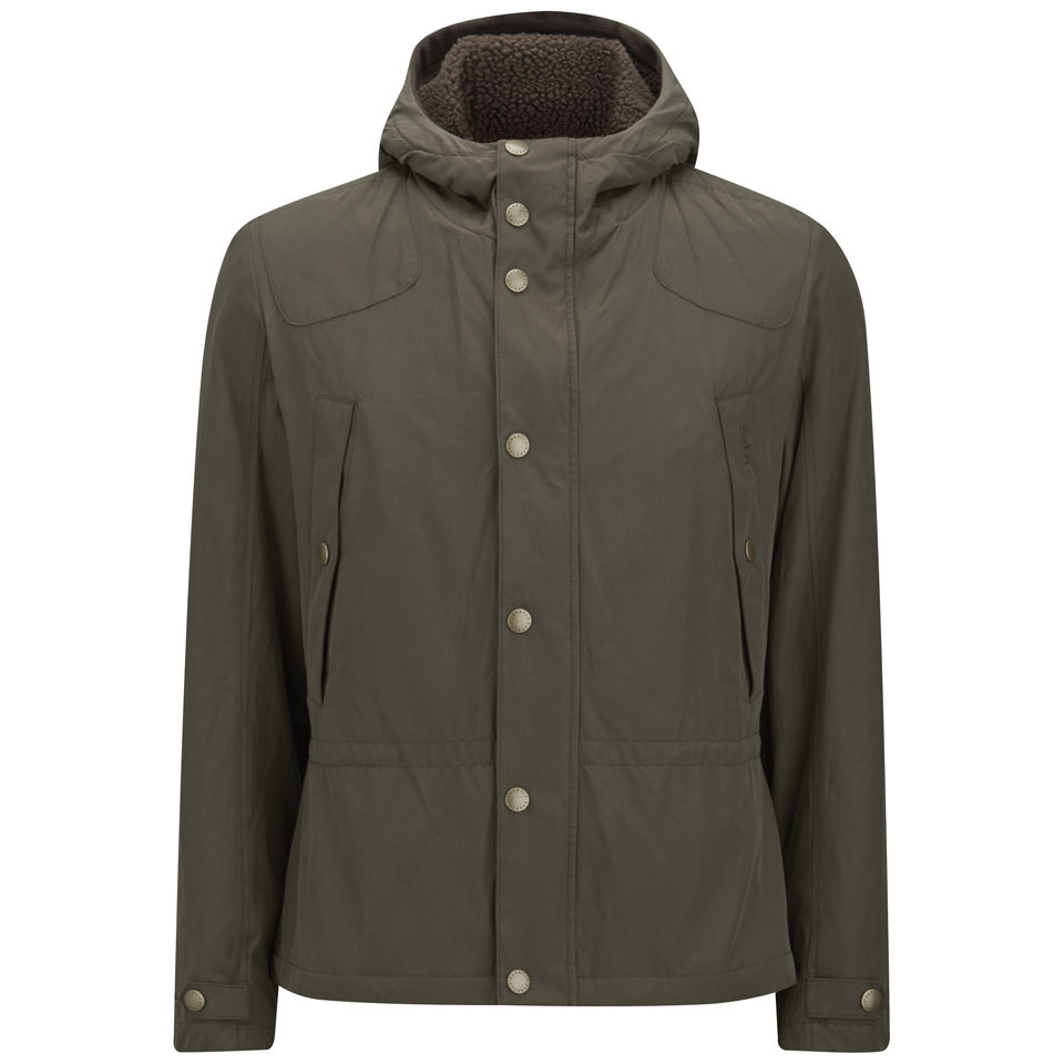 a1c40bcd935c7 Barbour Men's Stern Waxed Shooting Jacket - Olive - Free UK Delivery over  £50
