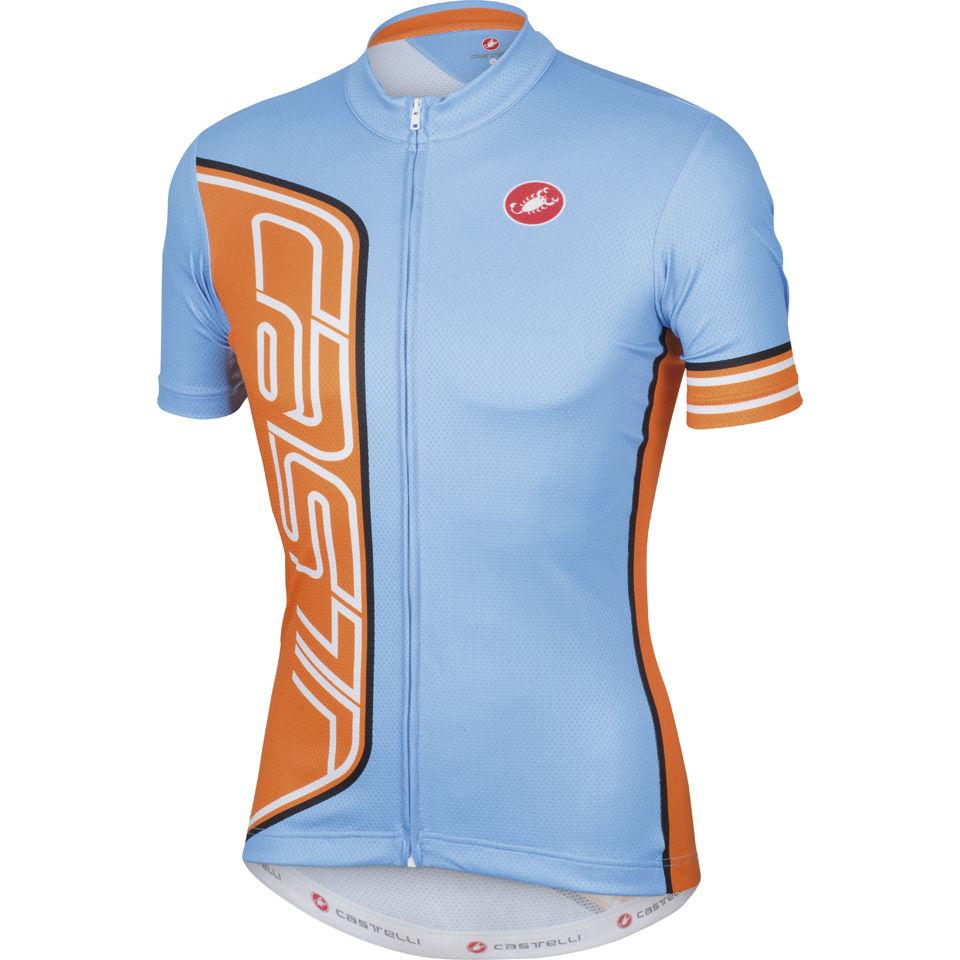 Castelli Formula Full Zip Jersey - Gulf Race - Blue Orange ... ccbe32bbe