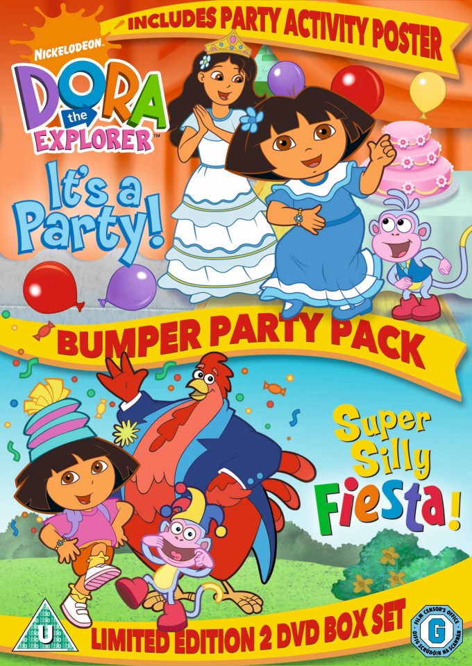 Dora The Explorer Bumper Party Pack Dvd Zavvi
