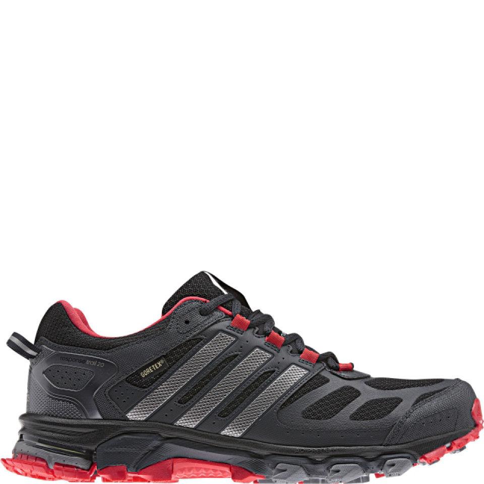 adidas Men's Response Trail 20 Running Shoe Gtx BlackTech Silver MetHi Res Red