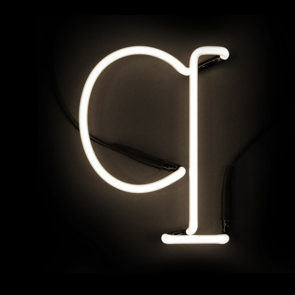 Seletti Neon Wall Light - Letter Q
