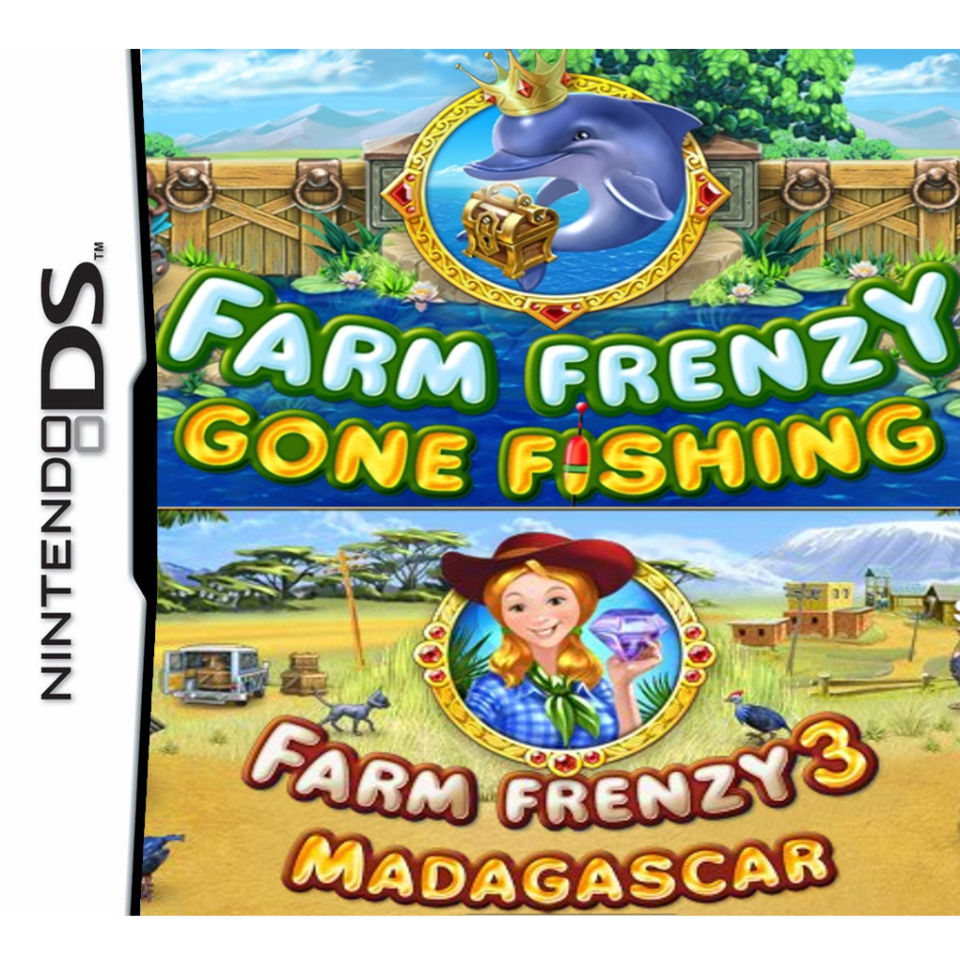 Farm Frenzy 3 Madagascar and Farm Frenzy Gone Fishing Double Pack