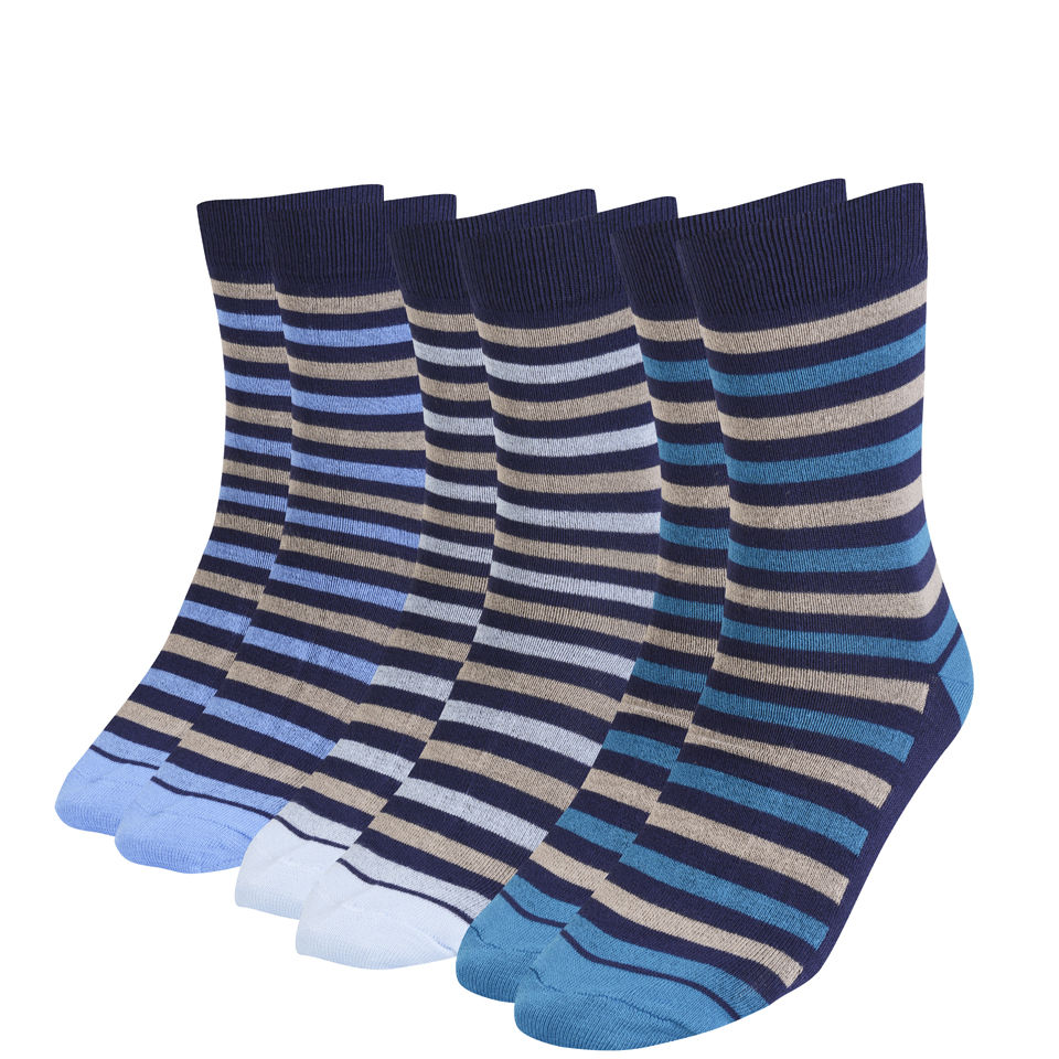 beb03b451ad39 Green Treat Men's 3 Pack Sock Gift Set - Blue - One Size Mens ...