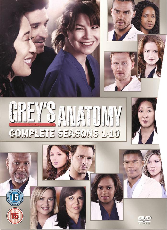 Greys Anatomy Season 1 10 Dvd Zavvi