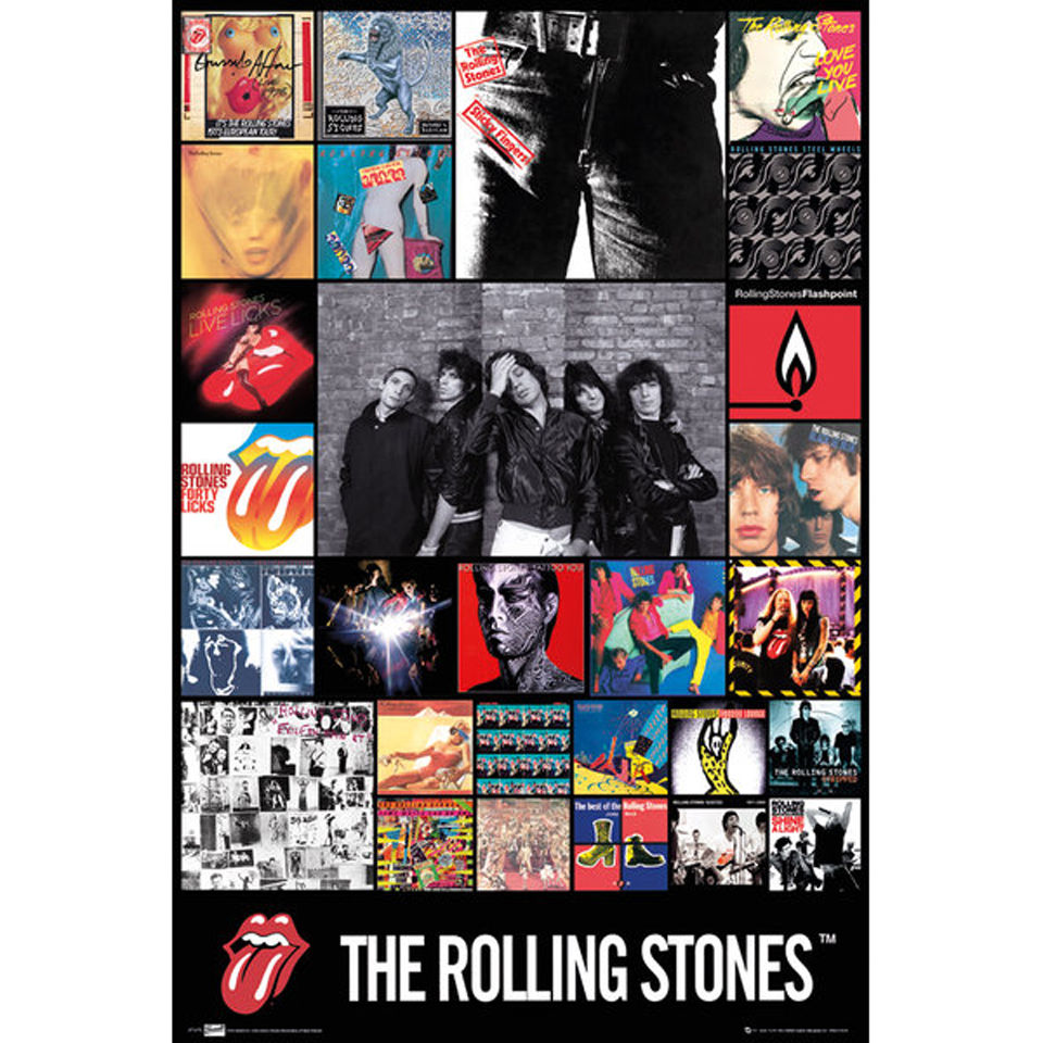 The Rolling Stones Discography - Maxi Poster - 61 x 91 5cm