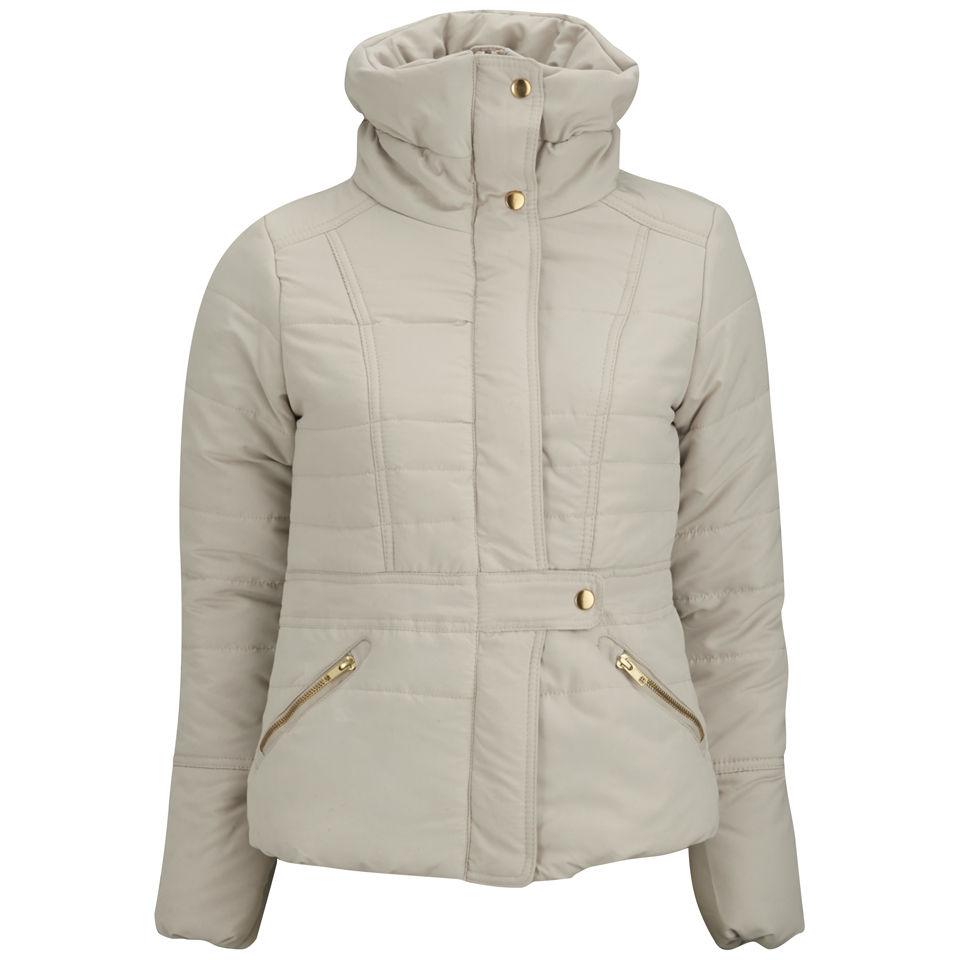 Vero Moda Women s Thunder Padded Coat - Oatmeal Womens Clothing  fe655bc86