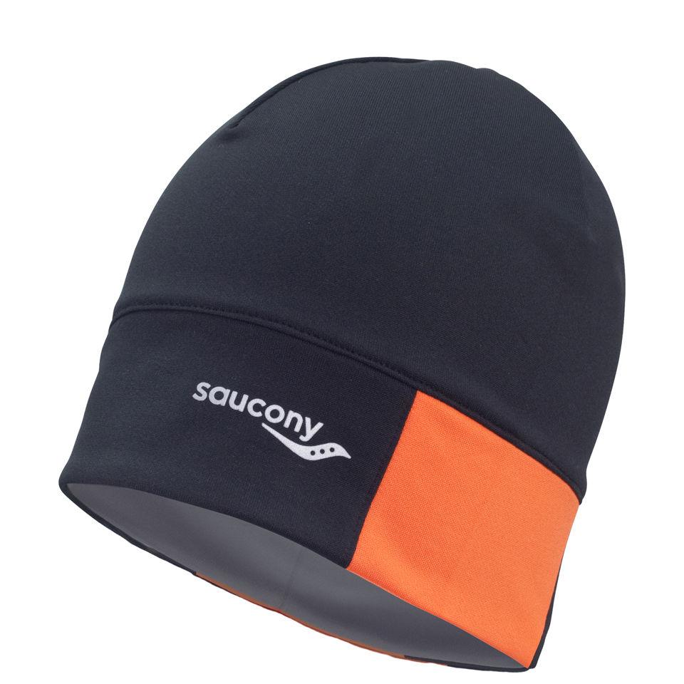 63c9102e Saucony Men's Drylete Loose Fit Beanie - Black/Vizipro | ProBikeKit ...
