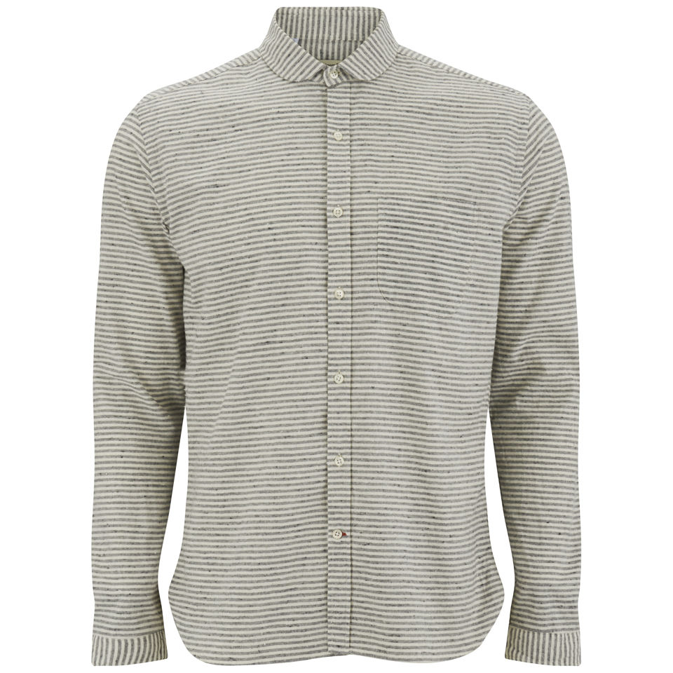 039f1aad5 Oliver Spencer Men s Hickory Stripe Shirt - Windsor Grey - Free UK ...