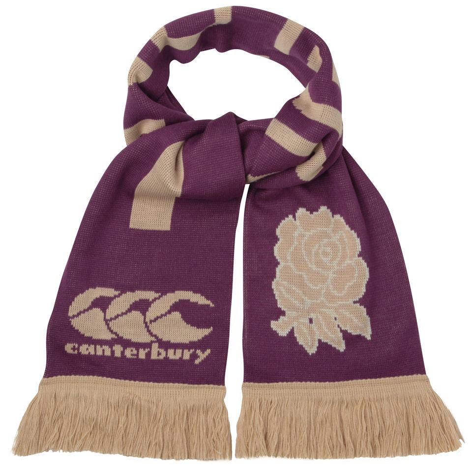 b881fe53d9b Canterbury Men s England Rugby Acrylic Scarf - Burgundy Gold ...