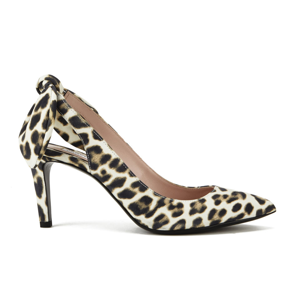 707dfcac358 Carven Women s Leopard Print Bow Back Heeled Shoes - Leopard - Free ...