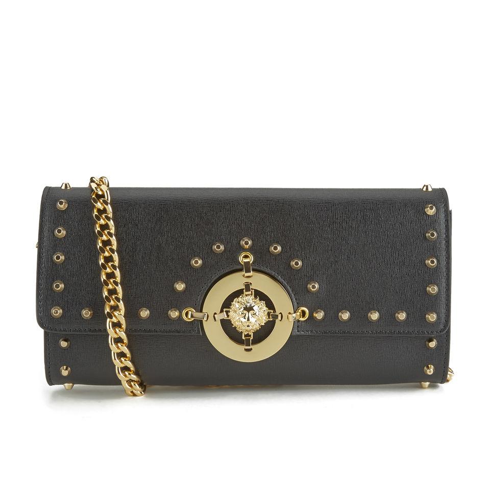 3604f117 Versus Versace Women's Patent Hardware Clutch Bag - Black