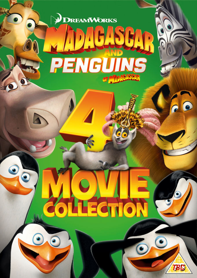 Penguins Of Madagascar Madagascar 1 3 Box Set Dvd Zavvi