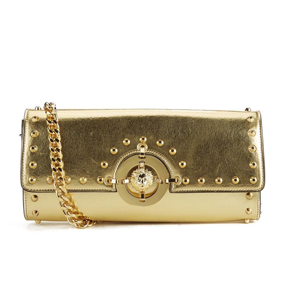 1001271a29 Versus Versace Women's Metalic Hardware Stud Clutch Bag - Gold