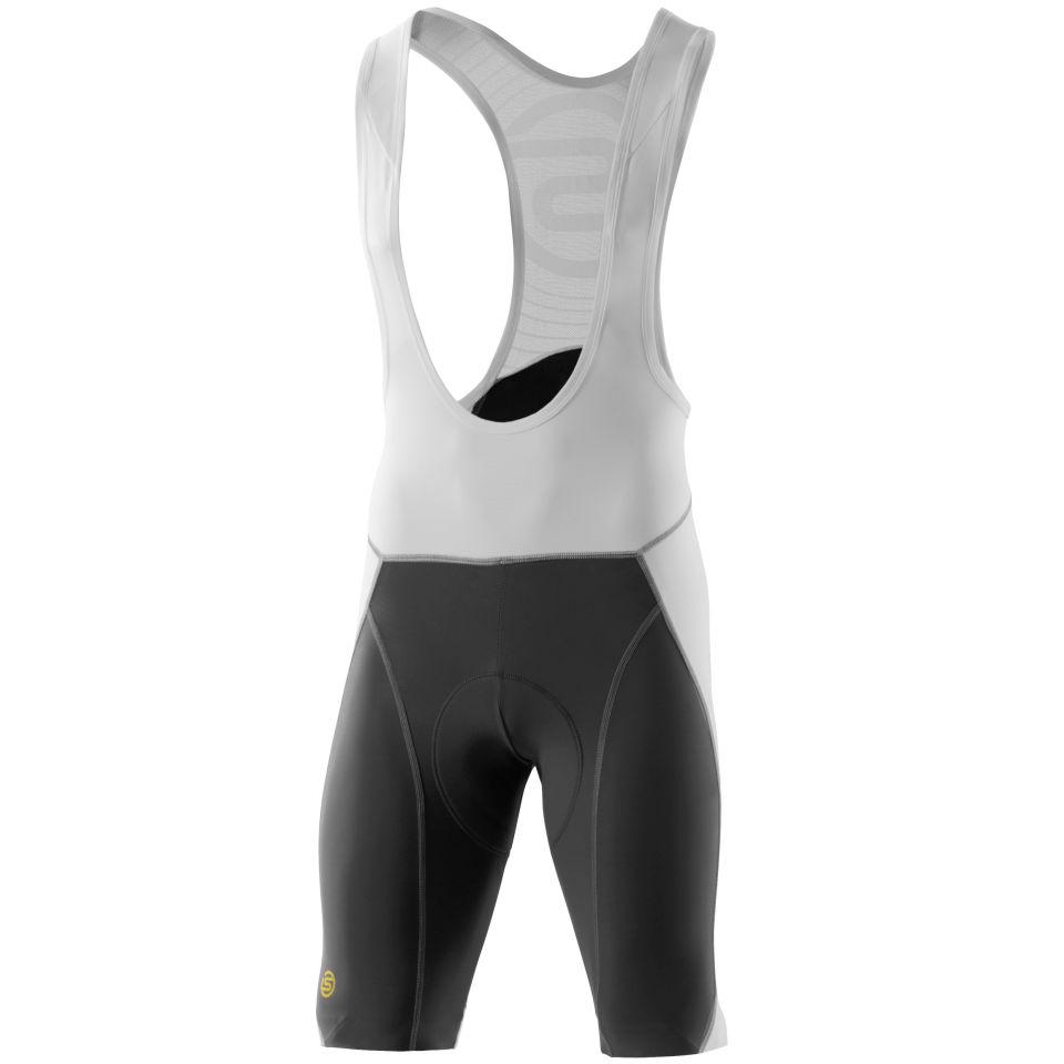 893d77c98 Skins C400 Men s Compression Bib Shorts White Grey