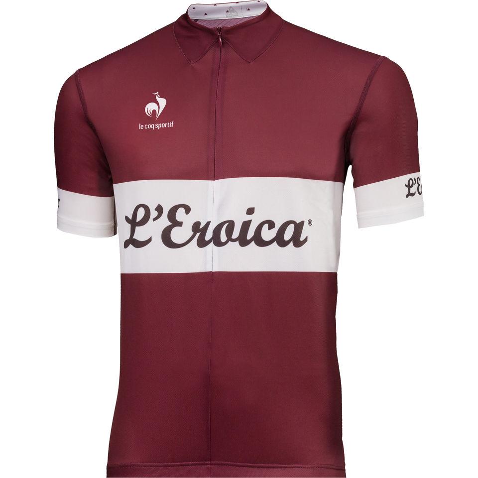 cb7f6f82c5d5 Le Coq Sportif Men s L Eroica Performance Jersey - Burgundy - Free ...