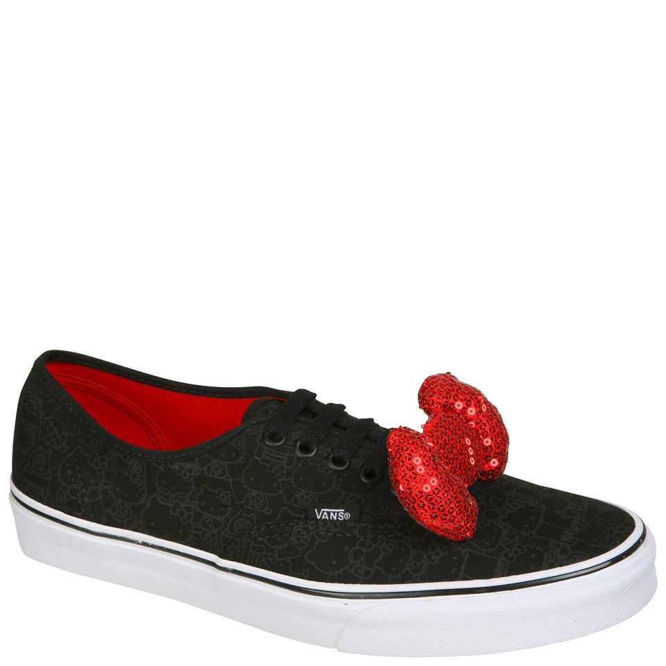 69b9b07ed Vans Authentic Hello Kitty Sequin Bow Trainers - Black/Sequin Bow ...