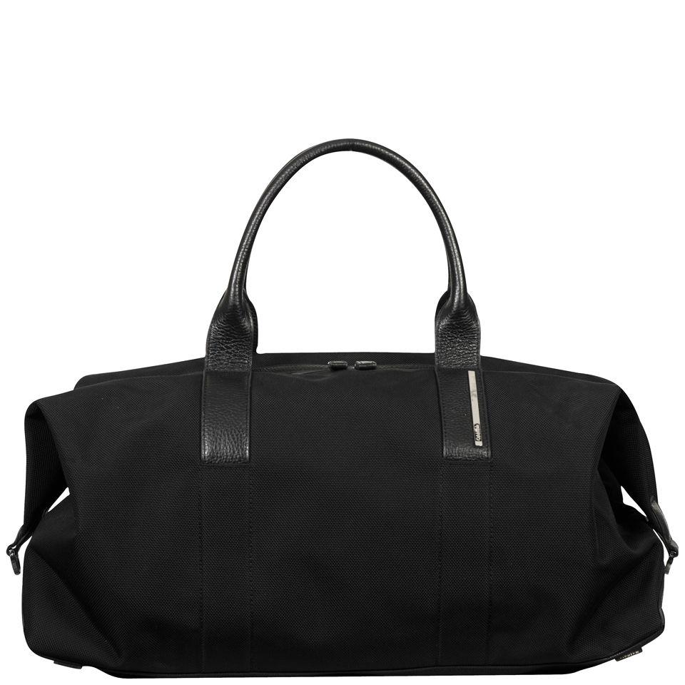 Luca Pebble Leather Duffle Bag Black