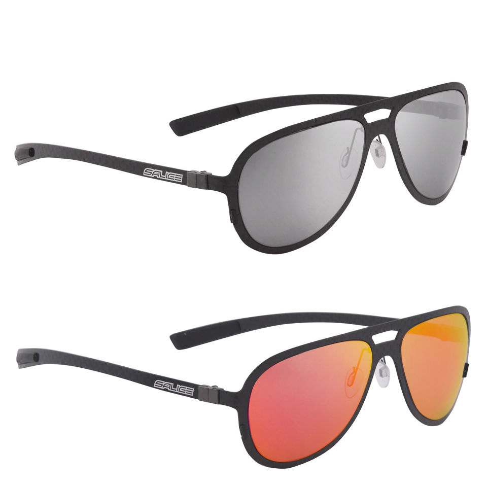 Salice Cpilot Casual Sunglasses - Carbon Red