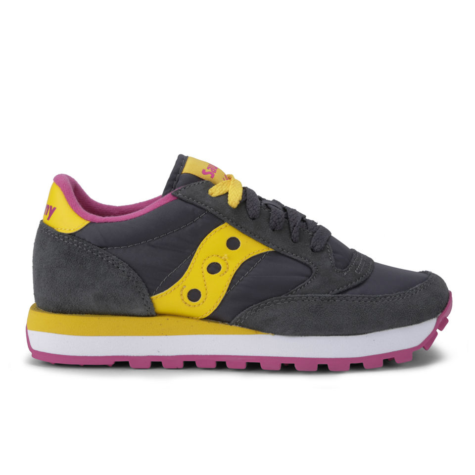 3a45fcbde3b2 Saucony Women s Jazz Original Trainers - Charcoal Yellow - Free UK Delivery  over £50