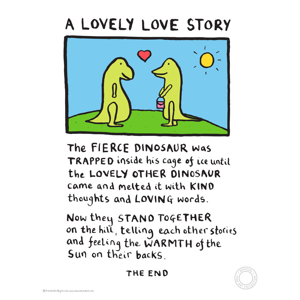 Edward Monkton A Lovely Love Story Limited Edition Fine Art Print