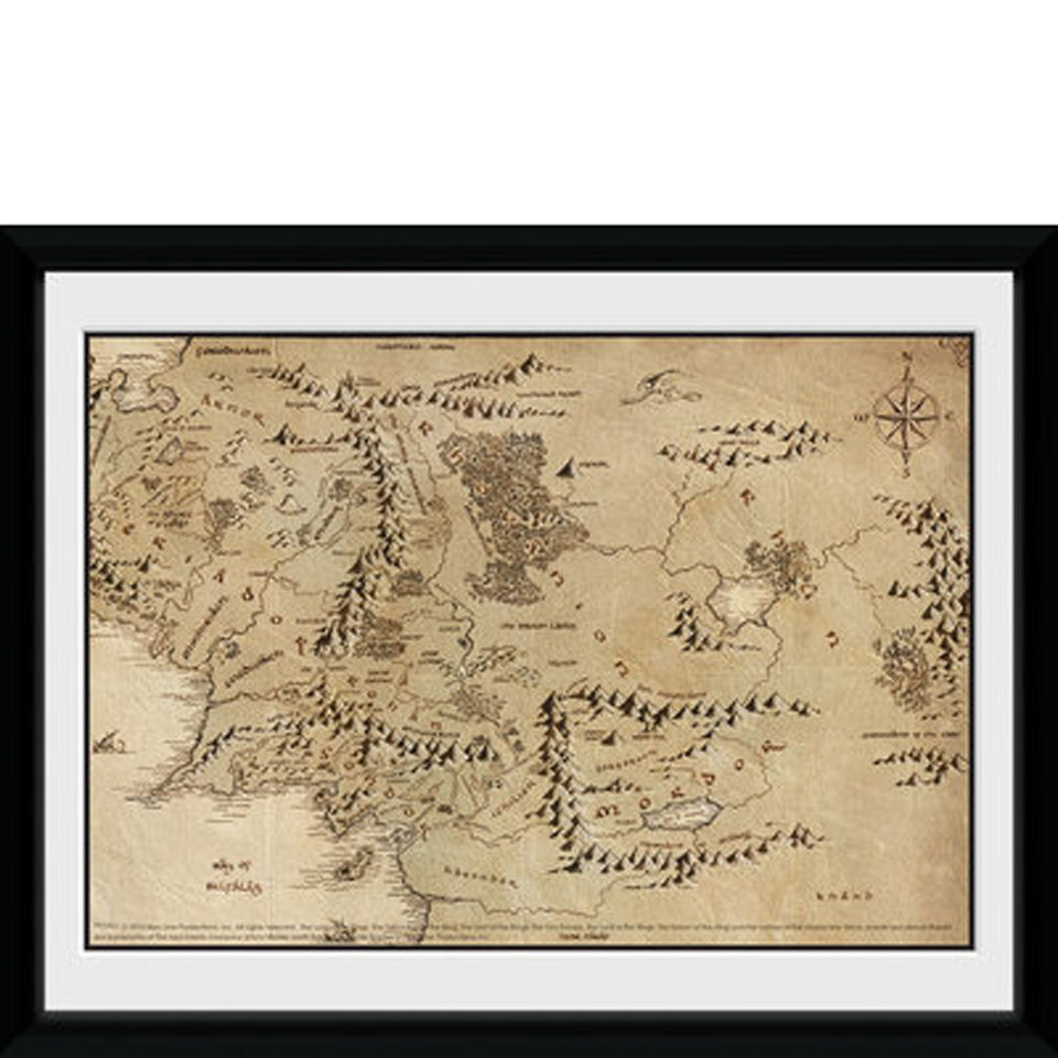 Lord of the Rings Map - 8x6 Framed Photographic  K Map Lord Of The Rings on printable hobbit map, thorin's map, gondor map, winnie the pooh map, the hobbit map, lord foul's bane map, the one ring map, hunger games map, the wonderful wizard of oz map, a tale of two cities map, the way of kings map, rivendell map, mordor map, middle-earth map, elf lord of rings map, lord of the flies map, lord rings battle return king, bilbo's map, lord of rings map shire, lonely mountain map,