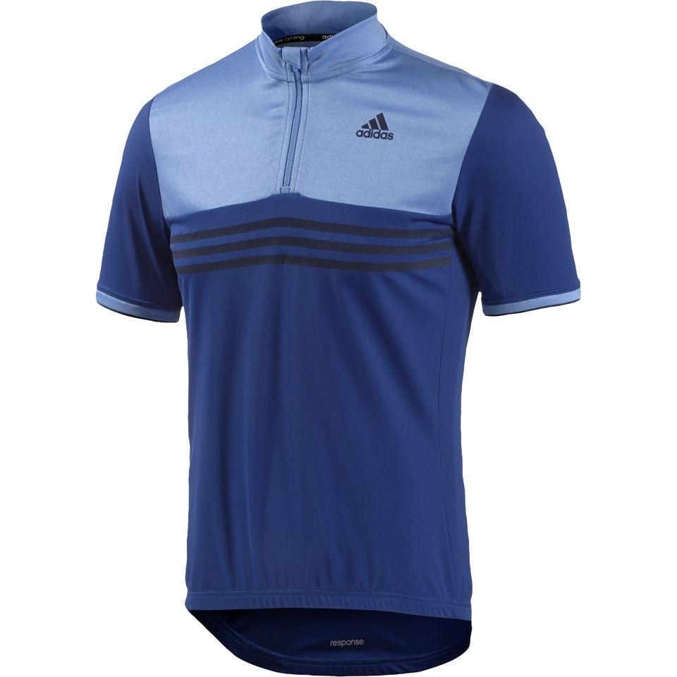 adidas Response Plures Short Sleeve Jersey - Blue  2d00ad22d