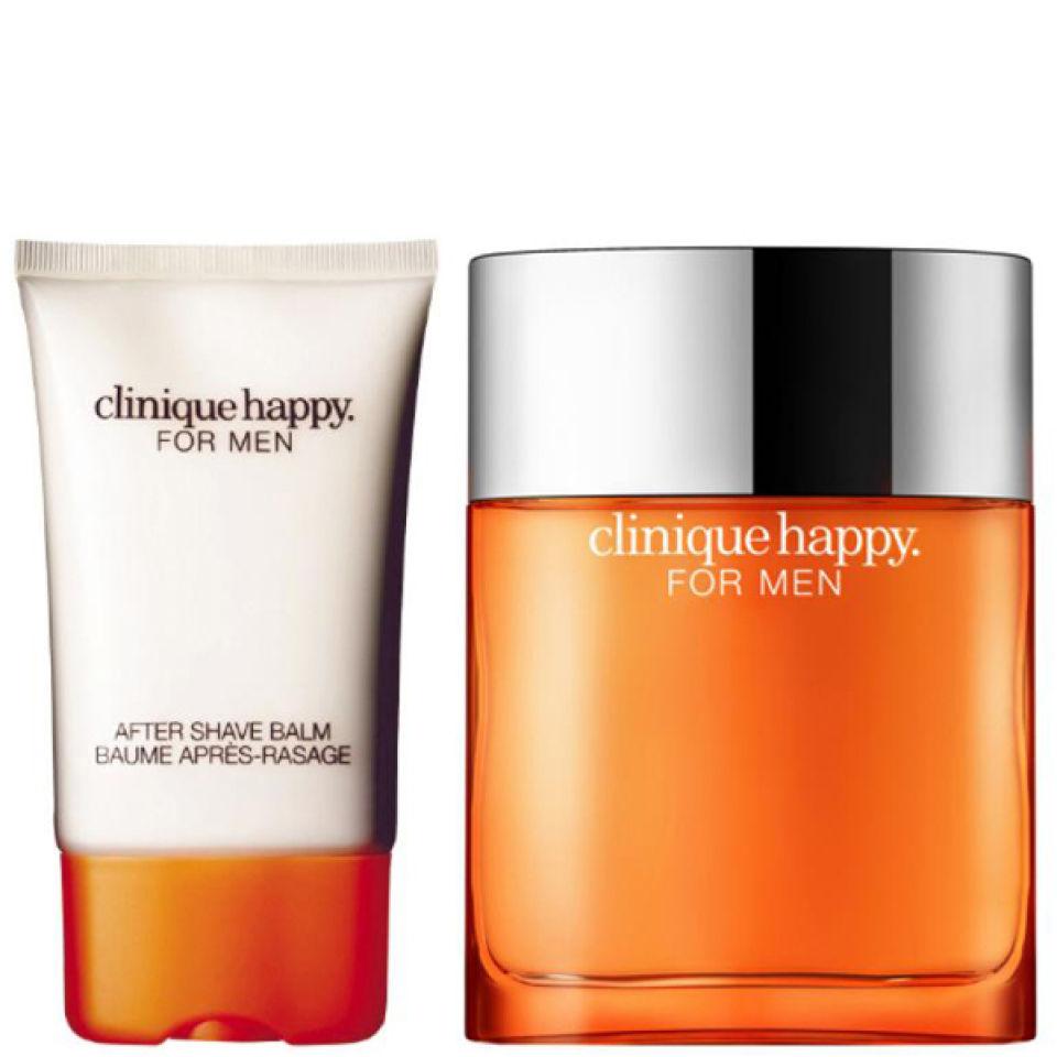 Clinique For Men Happy Duo 50ml Spray Aftershave Balm Free Women Perfume Description