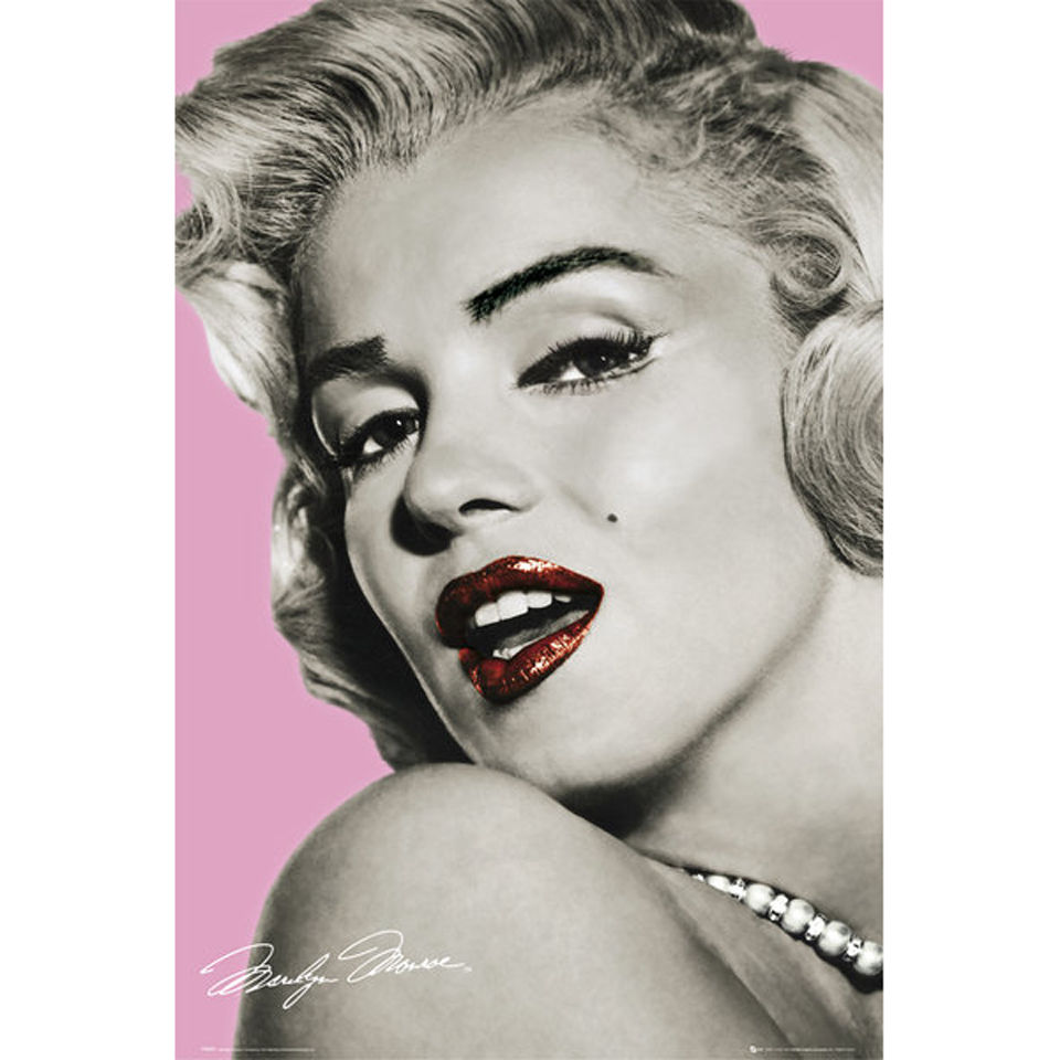 Marilyn Monroe Pink Lips - Maxi Poster - 61 x 91.5cm