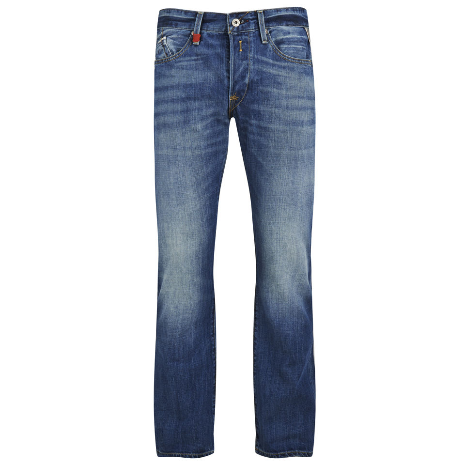 e05ee27c REPLAY Men's Waitom Straight Fit Denim Jeans - Light Blue Mens Clothing |  TheHut.com