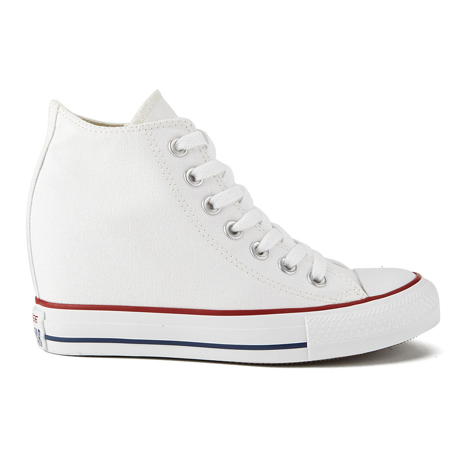 56f9269099da Converse Women s Chuck Taylor All Star Lux Hidden Wedge Canvas Trainers -  White Womens Footwear