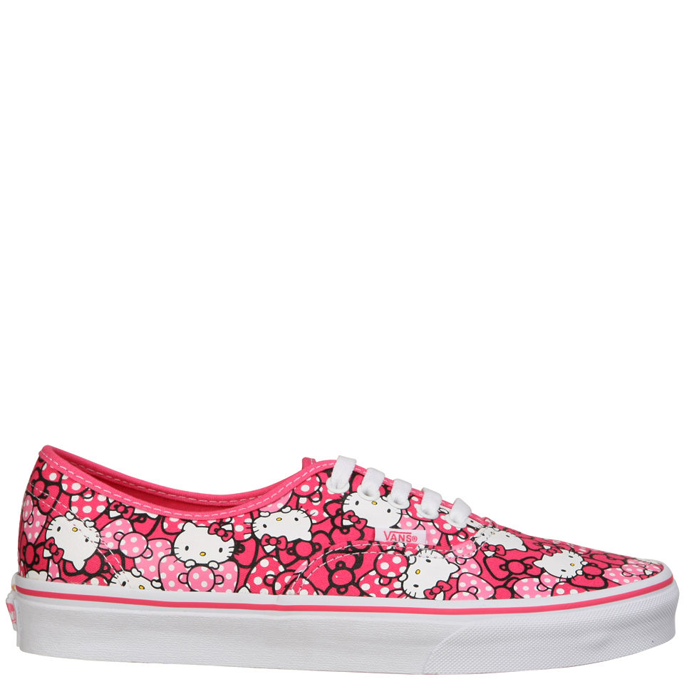 48d4adccc Vans Authentic Hello Kitty Trainers - Morning Glory/Hot Pink ...