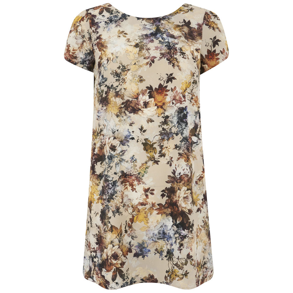 5ad8de639 LOVE Women s V Back Shift Dress - Multi Womens Clothing