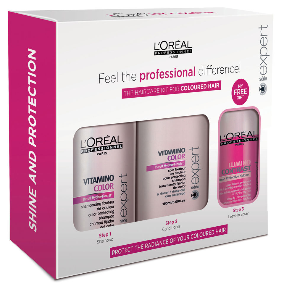 6bdb58363 L'Oreal Professionnel Serie Expert Vitamino Hair Care Kit for Coloured Hair  | Free Shipping | Lookfantastic