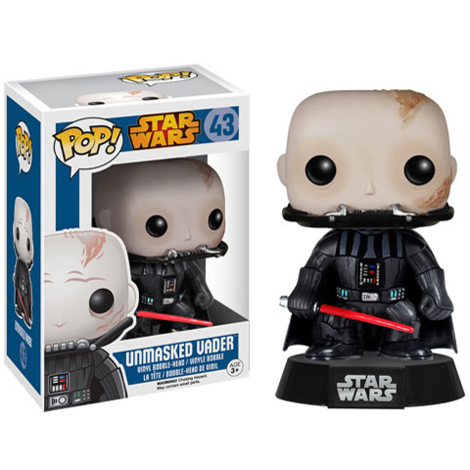 Figurine Pop! Star Wars Dark Vador Sans Masque Bobblehead