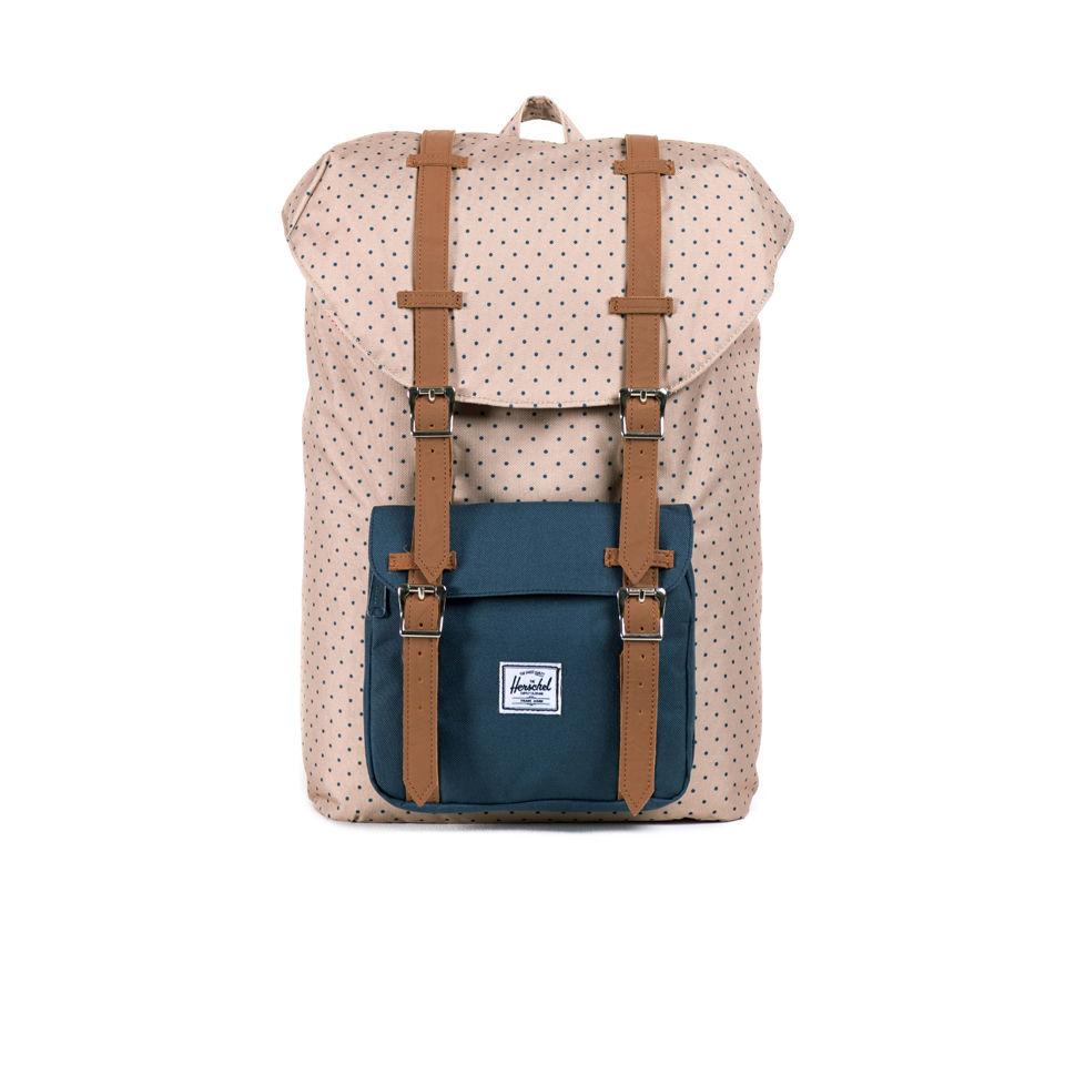 b140e3ed7f Herschel Supply Co. Little America Mid-Volume Backpack - Khaki Polka ...