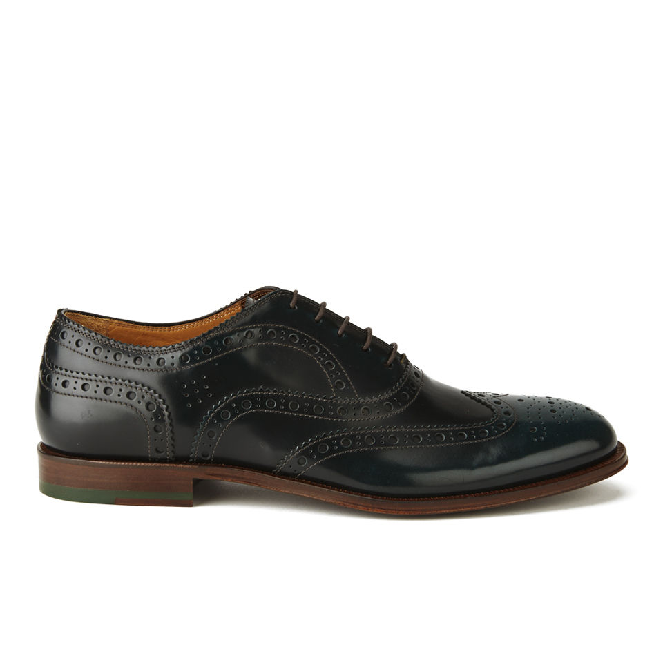 075bfb12b384 ... Paul Smith Shoes Men s Jacob Leather Brogues - Dark Green City Brush Off