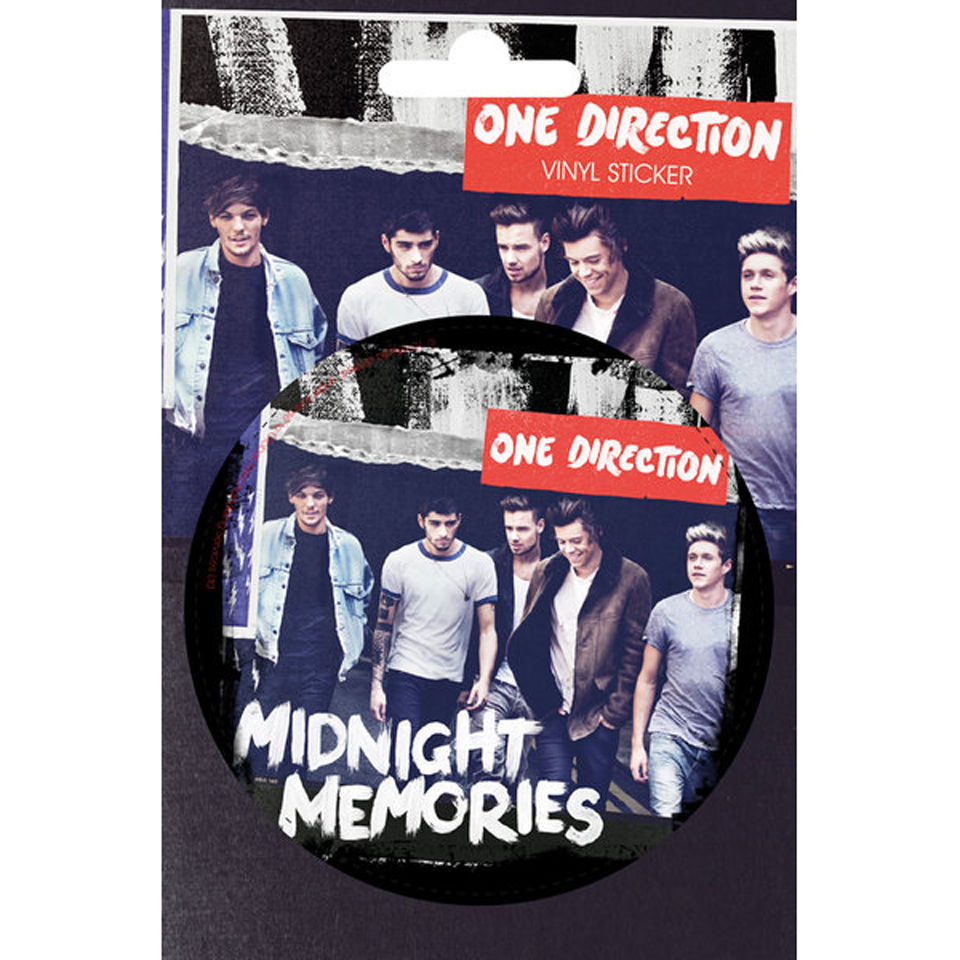 One Direction Midnight Memories - Vinyl Sticker - 10 x 15cm