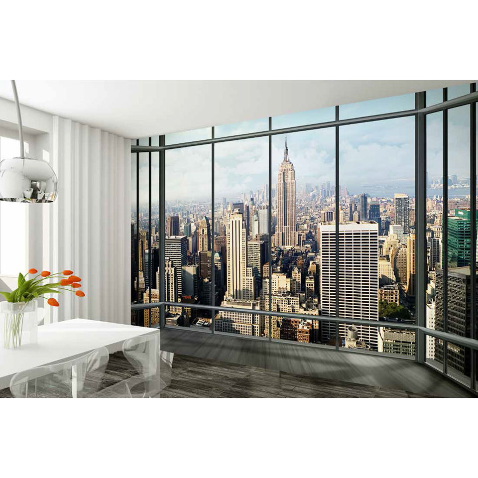 new york skyline wall mural homeware. Black Bedroom Furniture Sets. Home Design Ideas