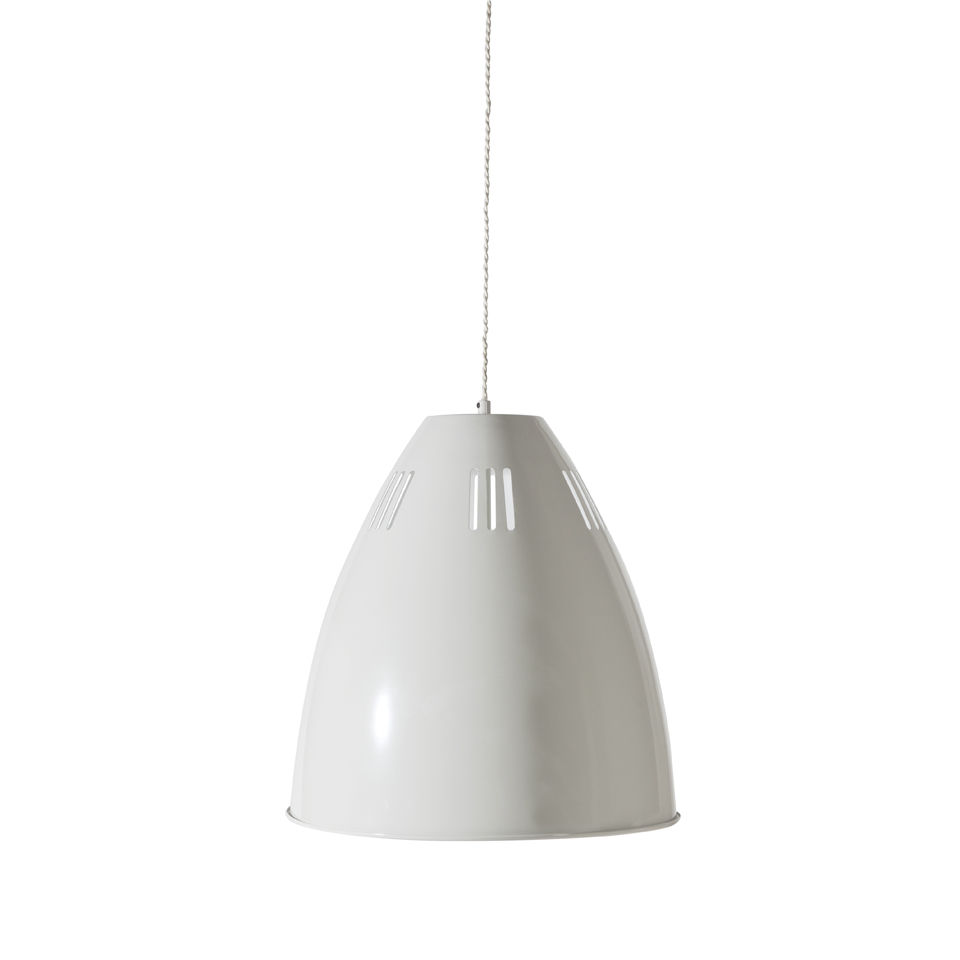 Garden Trading Cavendish Vented Large Pendant Light - Chalk