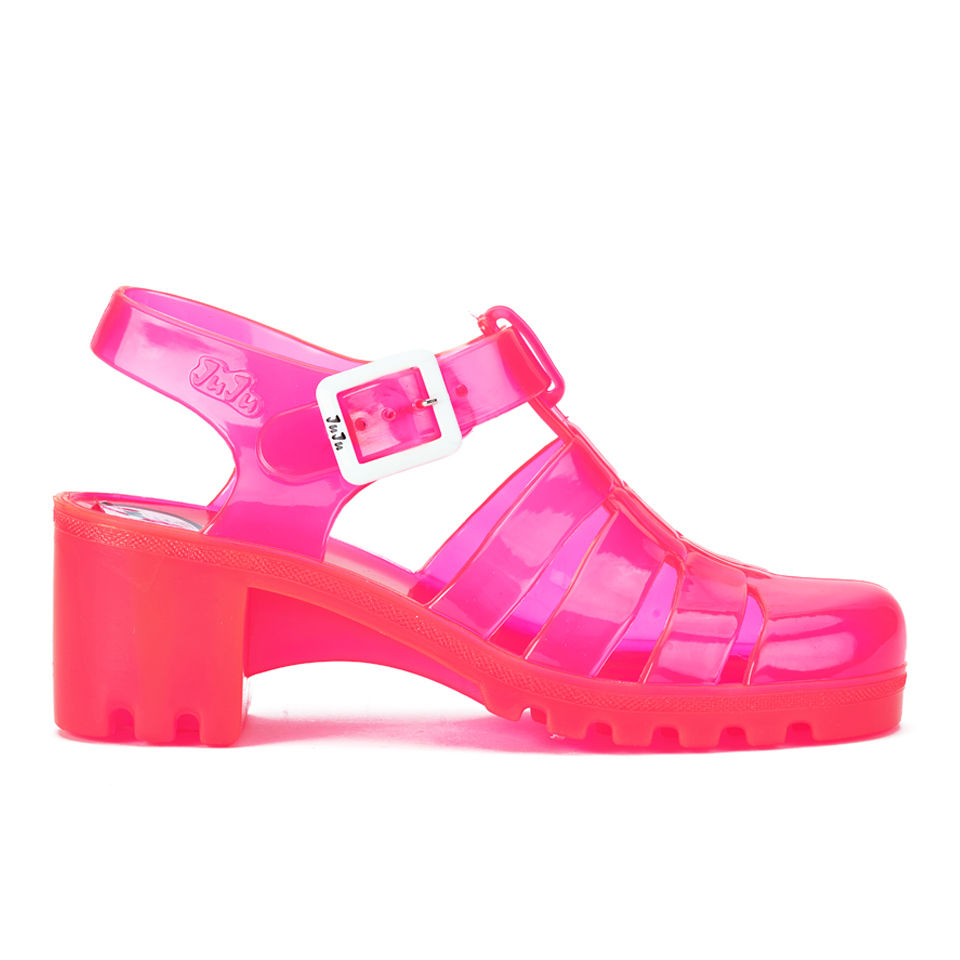 d191761441619 JuJu Women s Babe Heeled Jelly Sandals - UV Pink - Free UK Delivery over £50