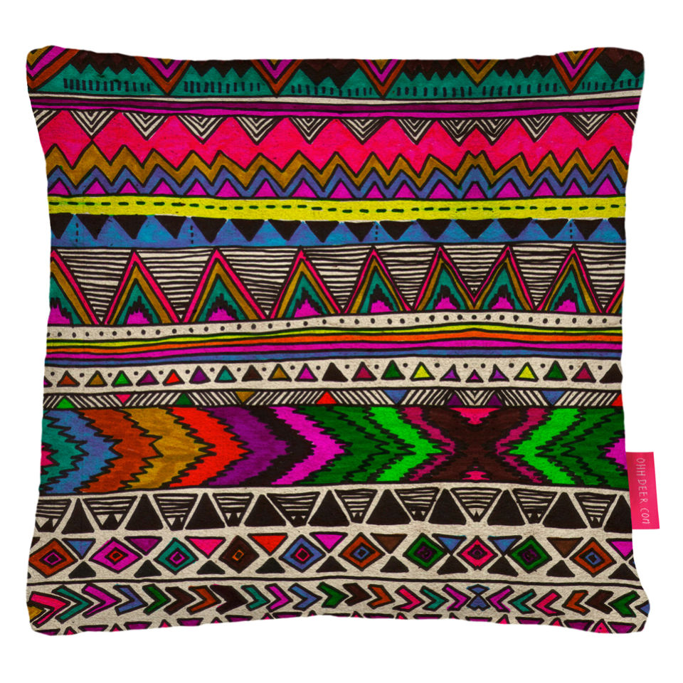 Ohh Deer Poncho Patterned Cushion Iwoot