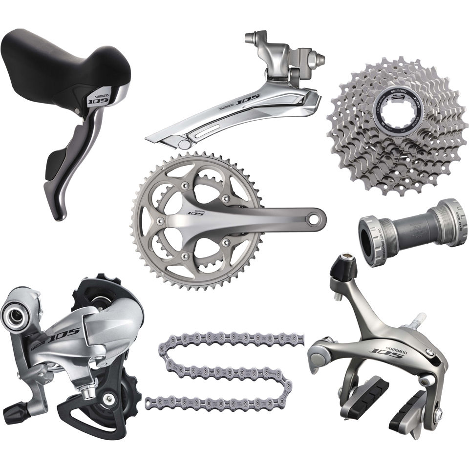 Shimano 105 5700 10 Speed Compact 34 50 Groupset Silver
