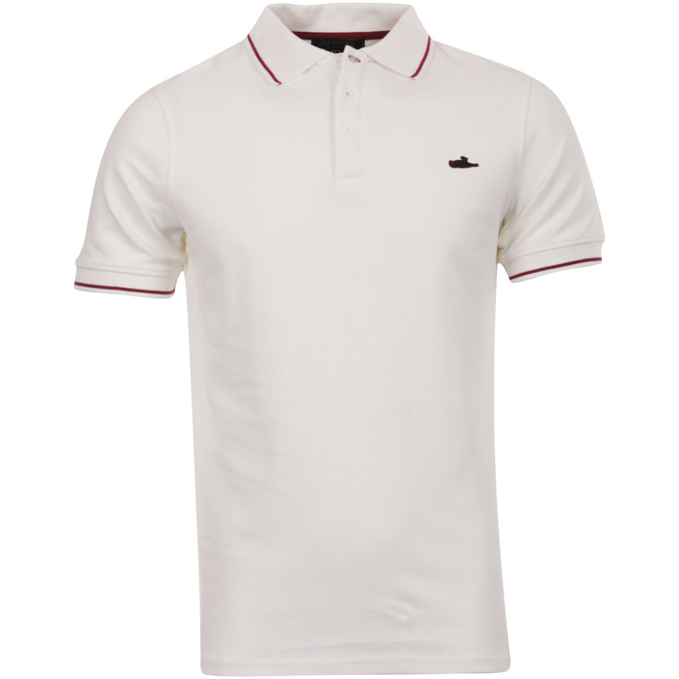 a17afd53 Atticus Mens Sant Polo Shirt - White Clothing | TheHut.com