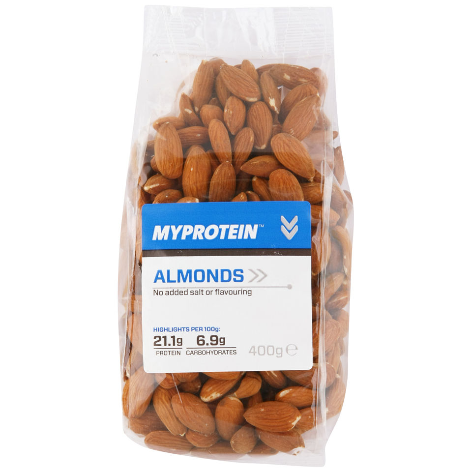Natural Nuts (Whole Almonds) - Unflavoured - 400g
