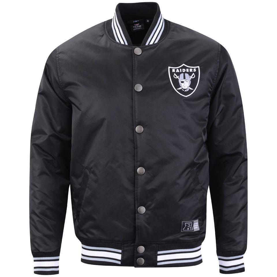 ceefeb90498 Majestic Men's Tarr Satin Raiders Jacket - Black Clothing   Zavvi