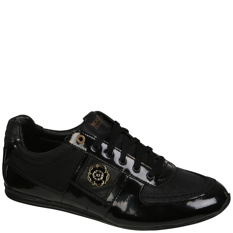 Nicholas Deakins Men S Galaxy Patent Trainers Black