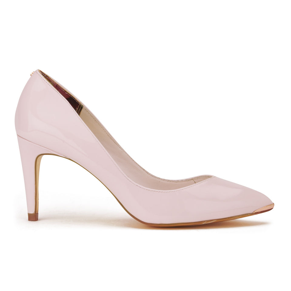 2b15878ff1a Ted Baker Women's Monirra Patent Vintage Pointed Court Shoes - Light Pink
