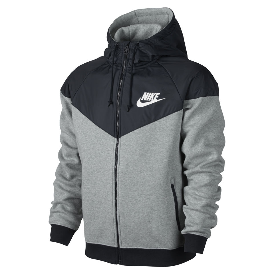 5fbd980be366 Nike Men s Windrunner Fleece Mix Jacket - Dark Grey Heather. Description