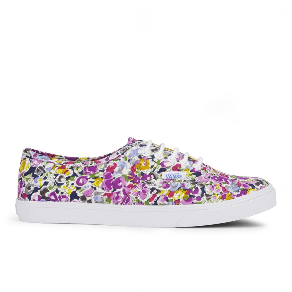 2ab8c84608 Vans Women s Authentic Lo Pro Floral Trainers - Violet True White Womens  Footwear